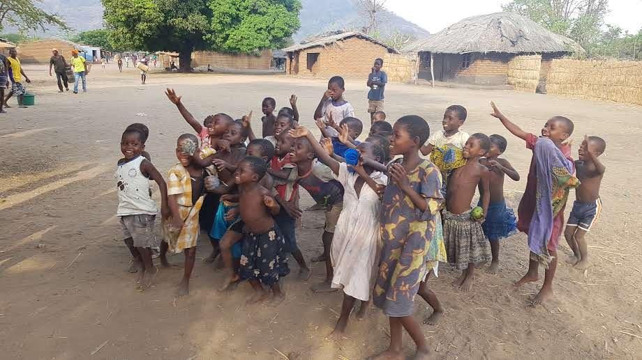 Kinderen in het dorp