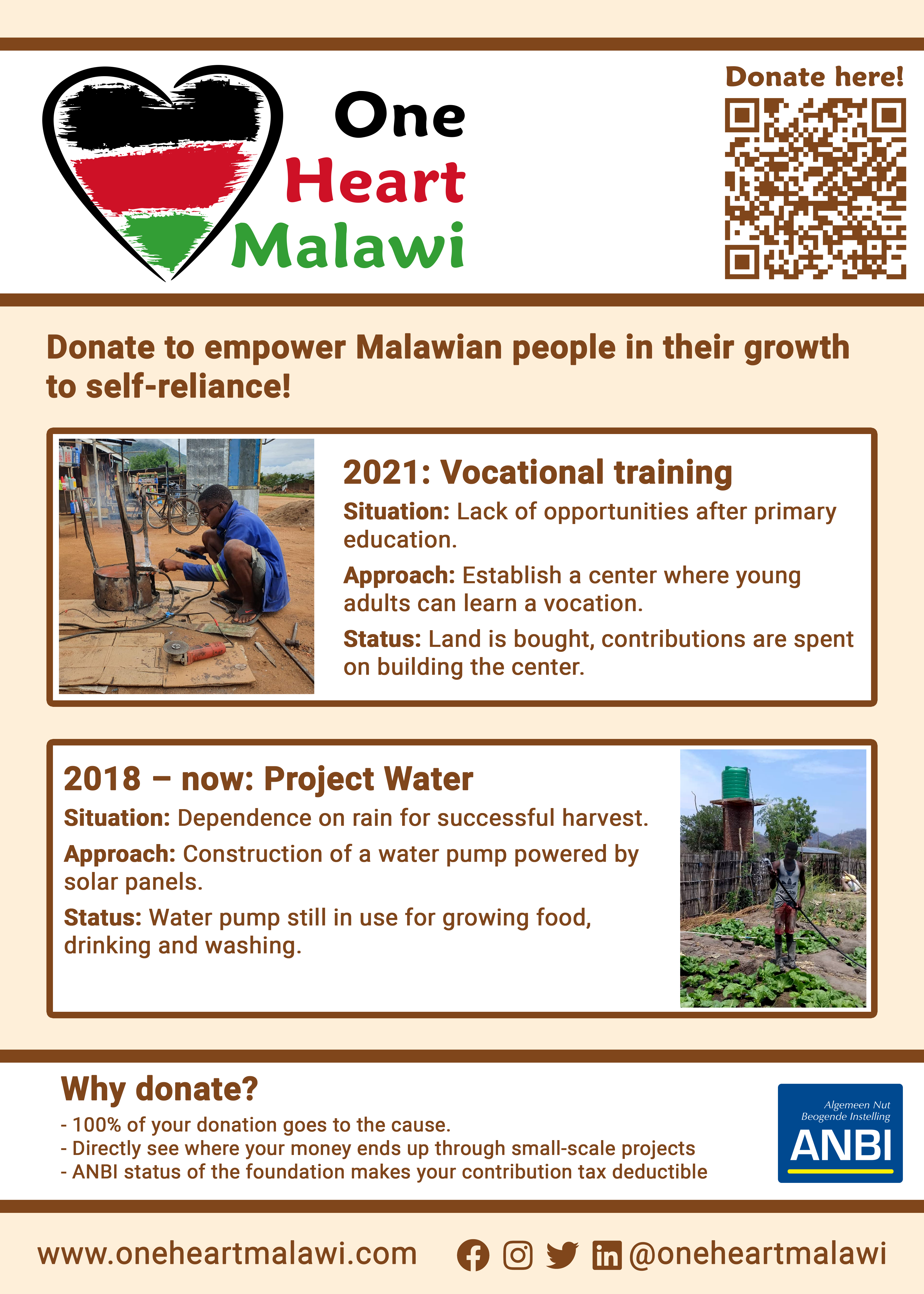 Flyer OneHeartMalawi English